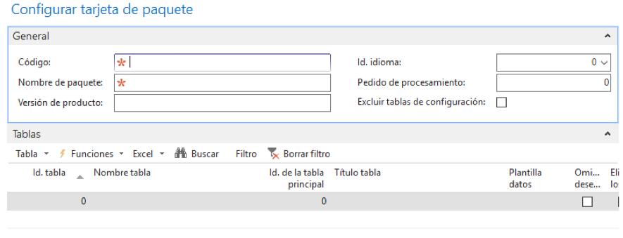 Crear paquete de configuración Navision