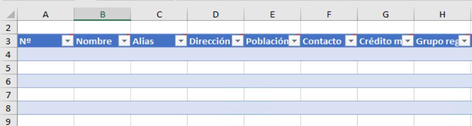 Exportar datos de clientes de Navision a Excel