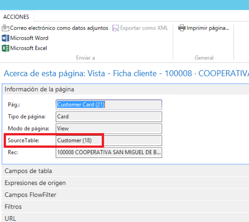 Source table Dynamics 365